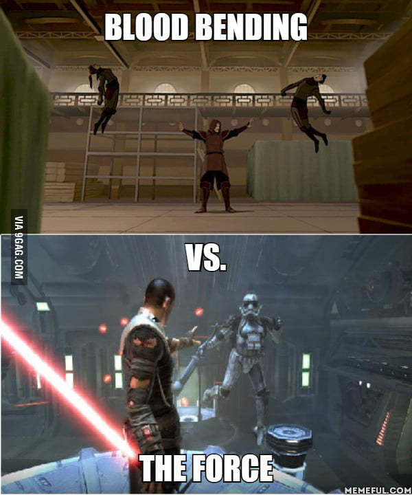Which is stronger?       vs.. The force