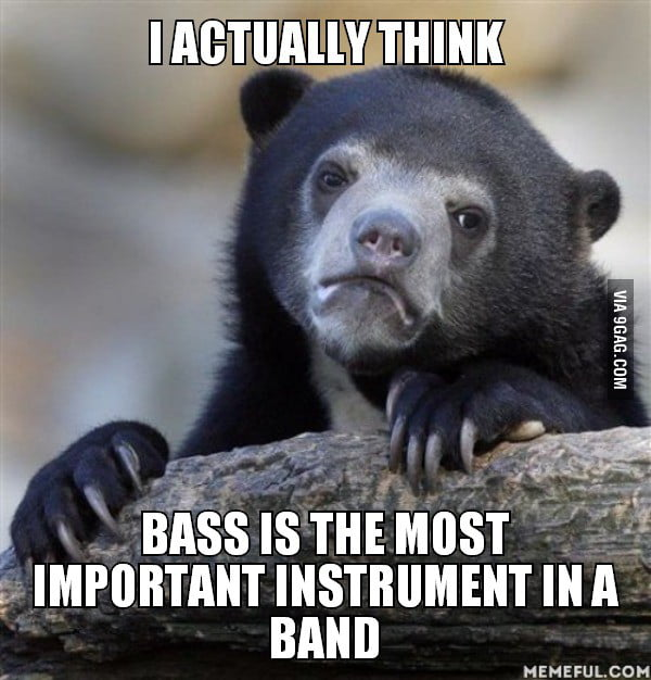 I actually think. bass is the most important instrument in a band