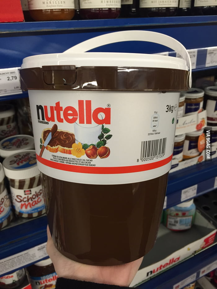 Just casually strolling through the supermarket buying some Nutella