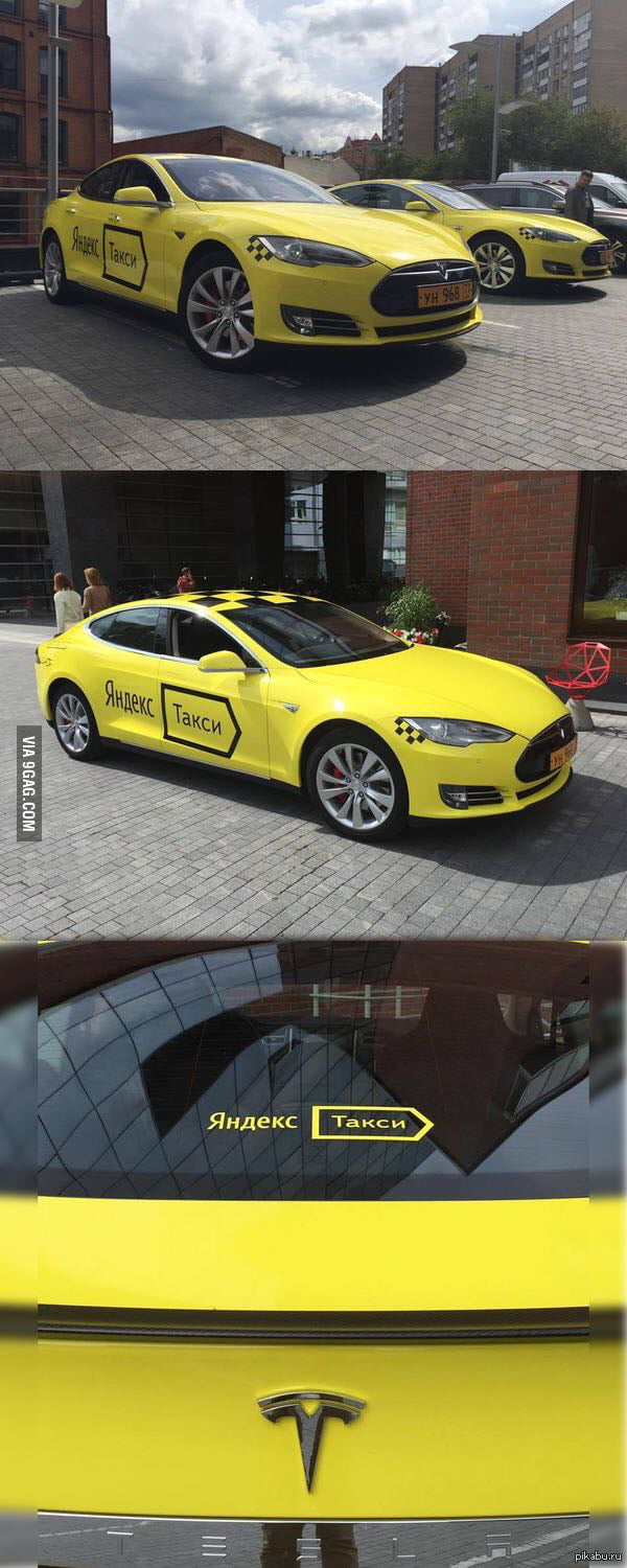In Russia the Tesla is used as... Taxi