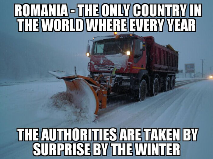 Romania right now... And it happens every year