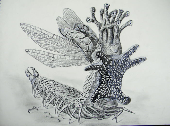 What would you call it? Another creature drawn by me.