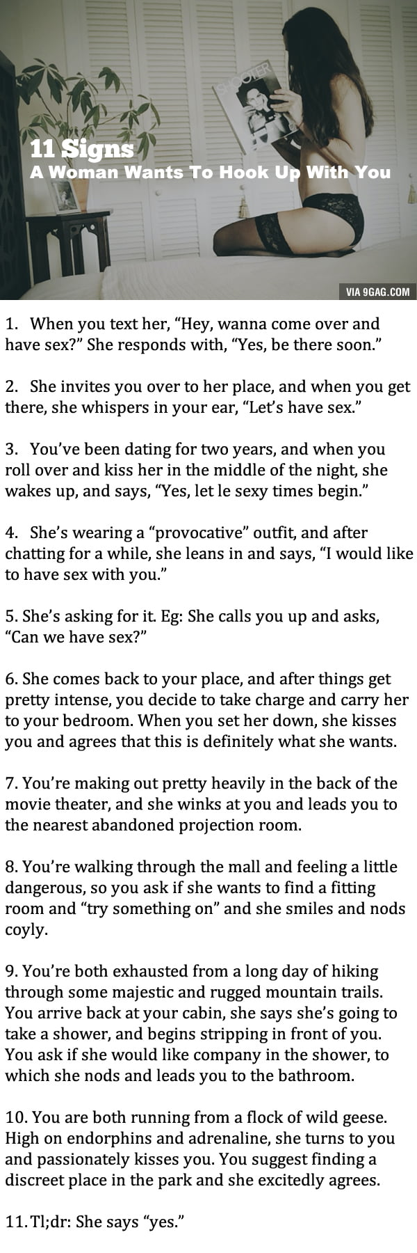 Signs a girl wants you sexually