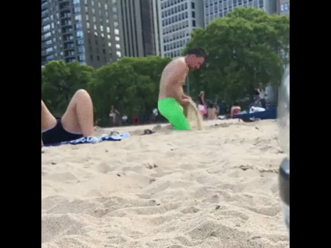 Just watched a random guy shove sand down his pants