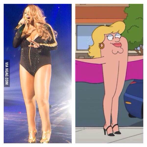 Mariah Carey looks familiar