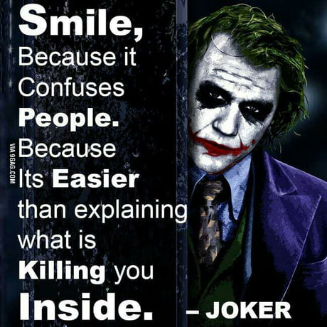 Wise words of a madman...