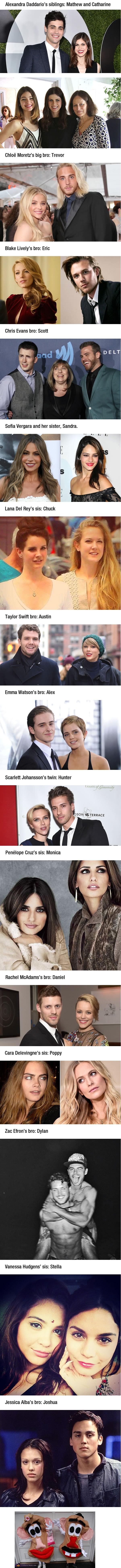 Celebrities with hot siblings