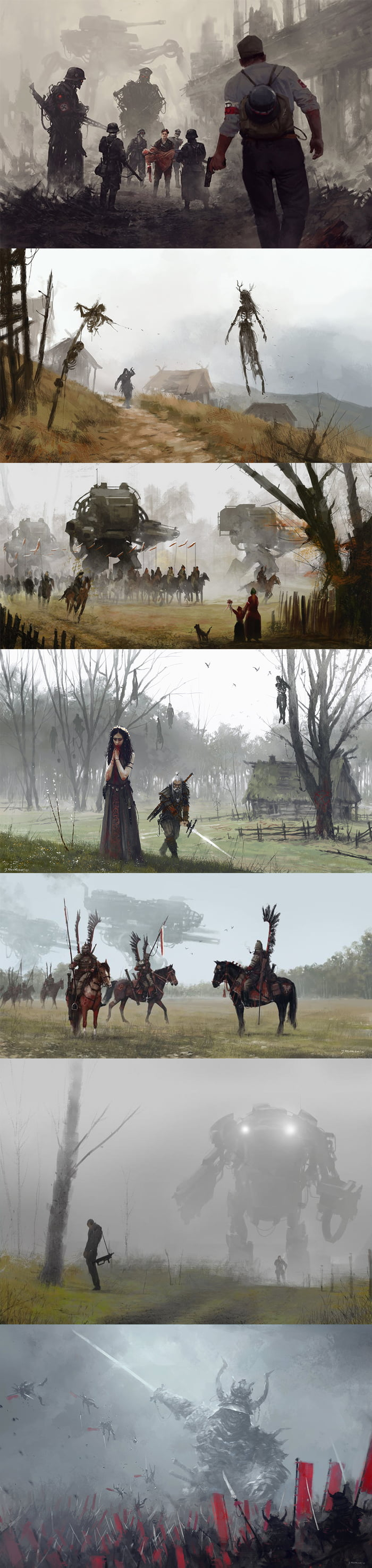 I heard that you guys like this type of artwork. Made by polish artist Jakub Rozalski.