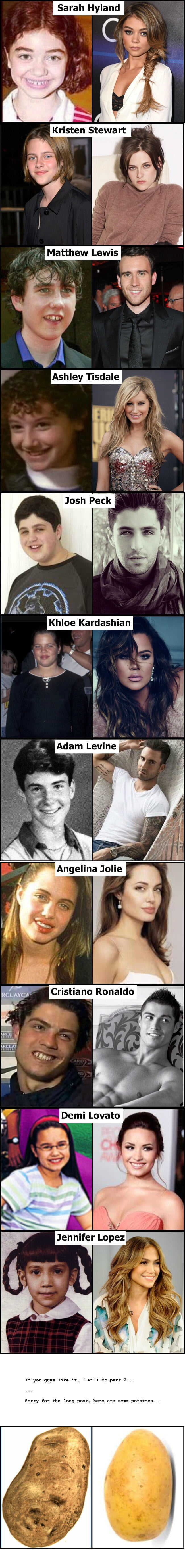 Celebrities then and now (part 1)