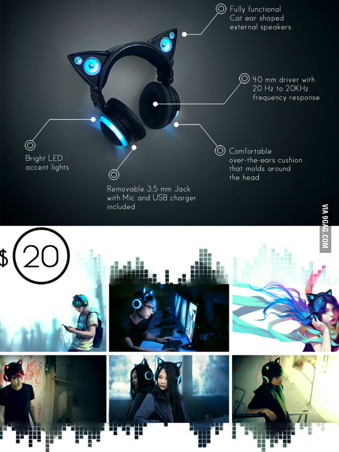Cat ear headphones will be out soon. What do you guys think? They are called Axent Wear.
