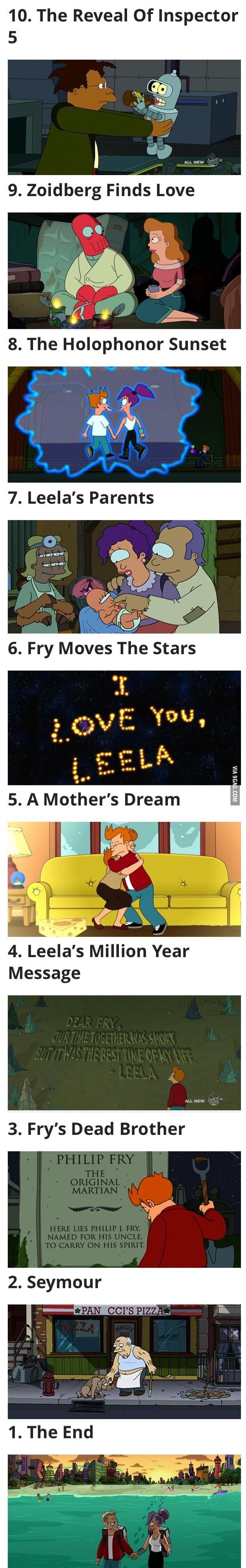 Los 10 momentos más emotivos de Futurama