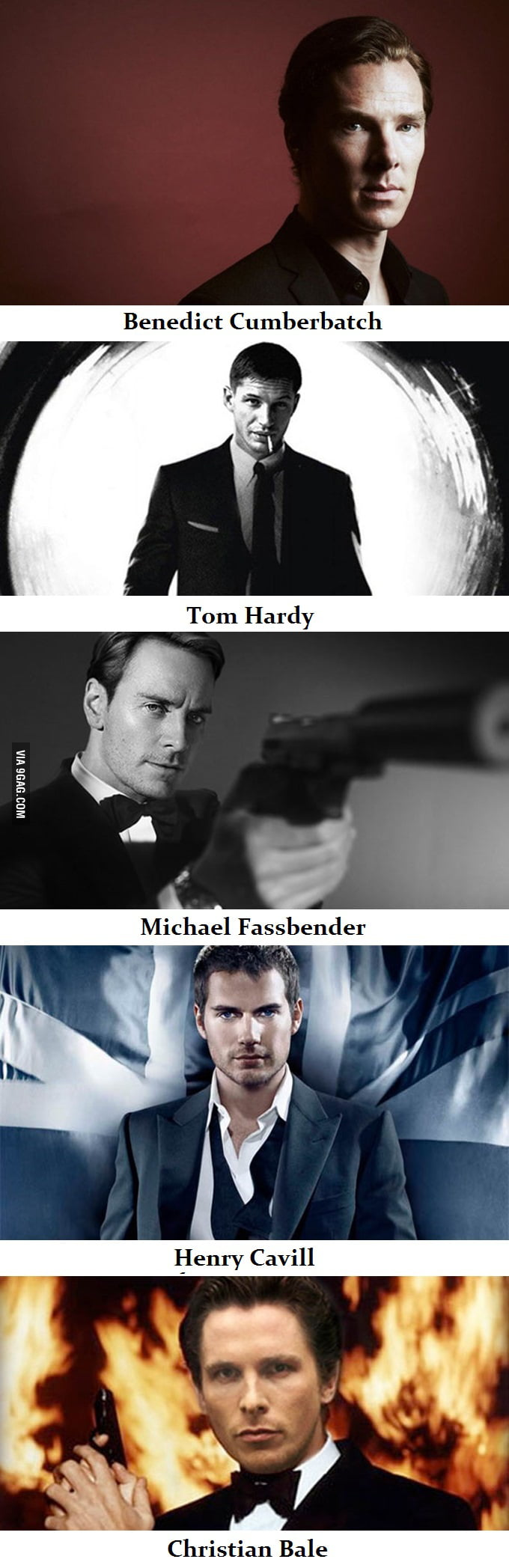 5 actors I'd love to see in the next James Bond movie. Who's yours?