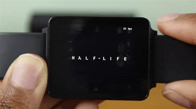 So now you can play Half Life on Android Watch...
