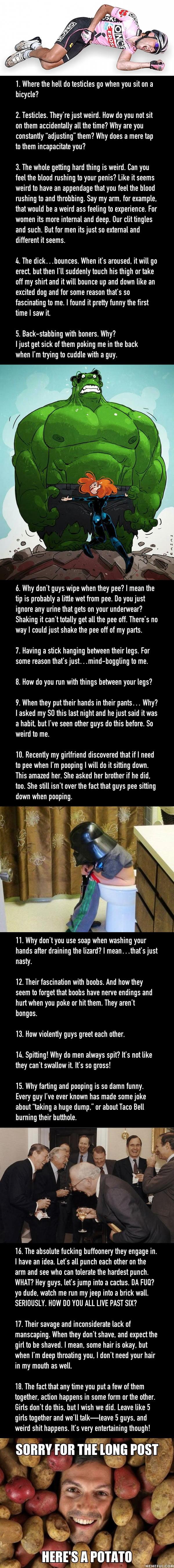18 Girls Describe The Weirdest Thing About Guys