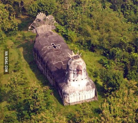 Church in Indonesia that looks suspiciously like a chicken