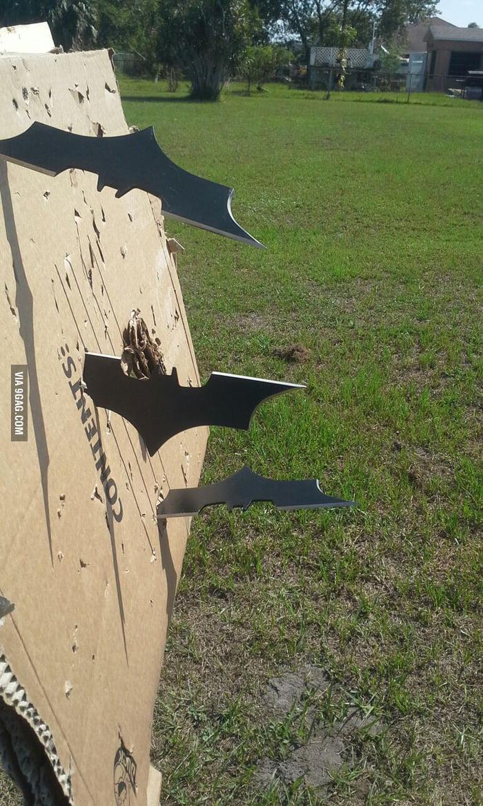 My friend's batarangs