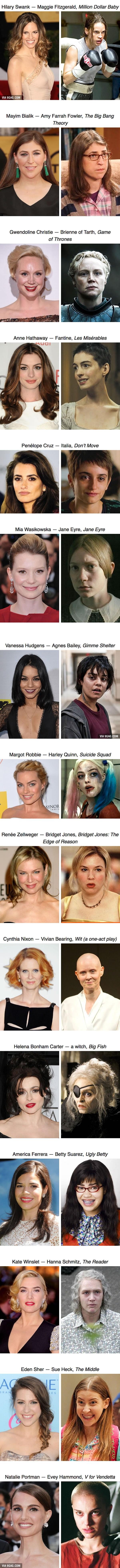 15 attrici che hanno sacrificato la loro bellezza per i ruoli di film
