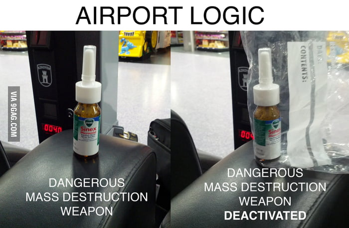 Airport's logic for security
