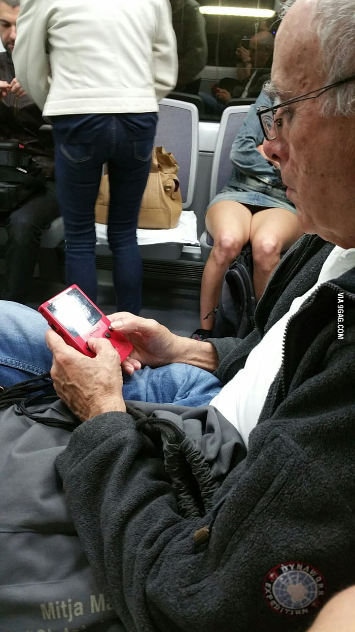 Saw this master grandpa at the train today.  Level 39!