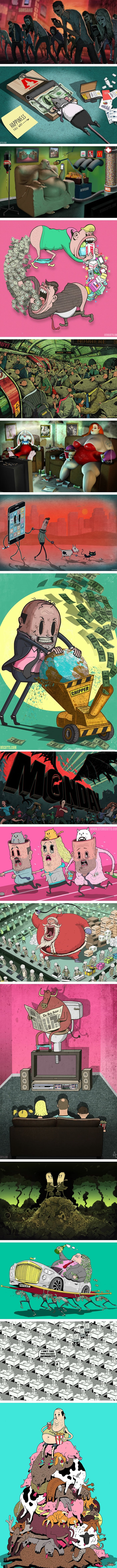 This makes me think everytime (Steve Cutts)