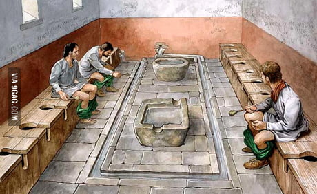 Ancient Roman Toilet. I suppose it was quite a fun back there