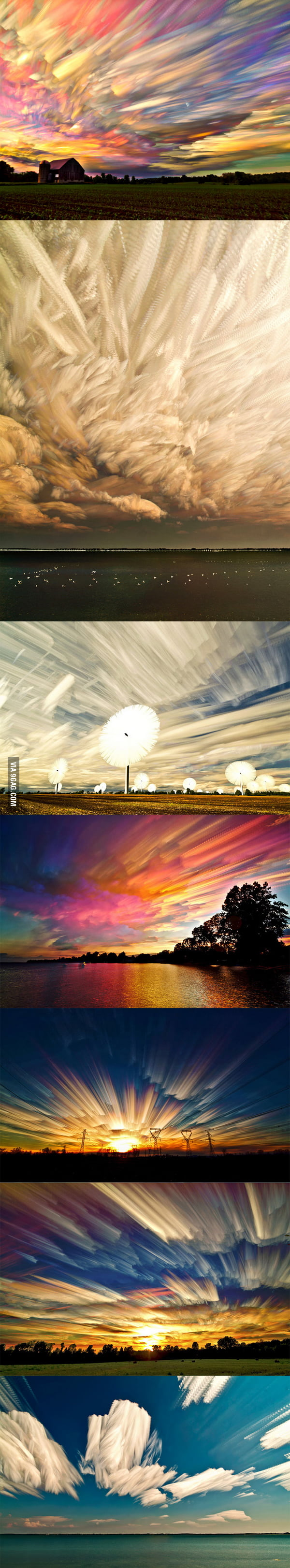 Timestacks, by Matt Malloy...these are photographs.