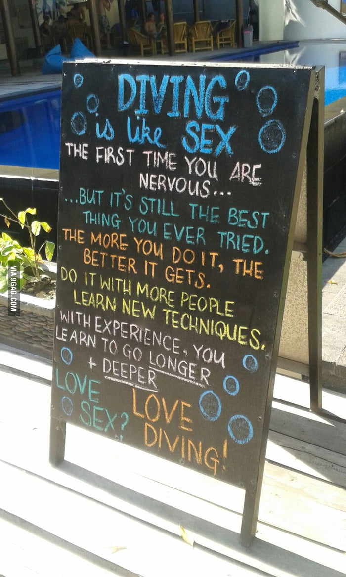 Good news for all virgins. Go diving!