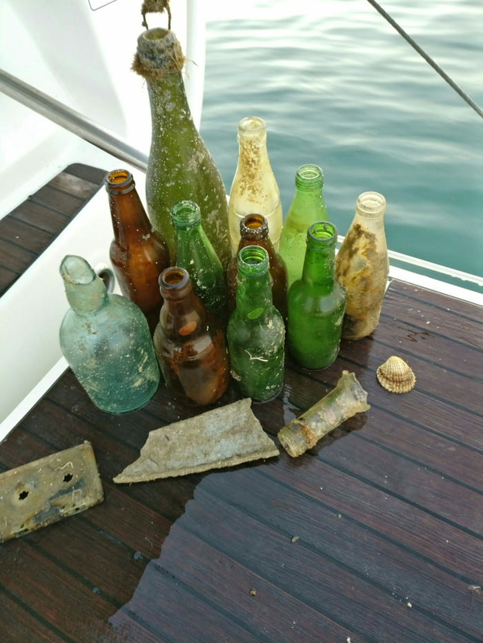 Bottles I found in the ocean