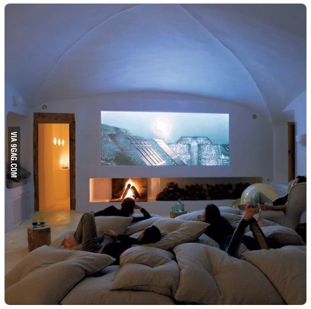 Stylish home theatre. Seriously... who wouldn't love this?!