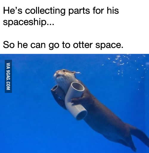 He's going to otter space!
