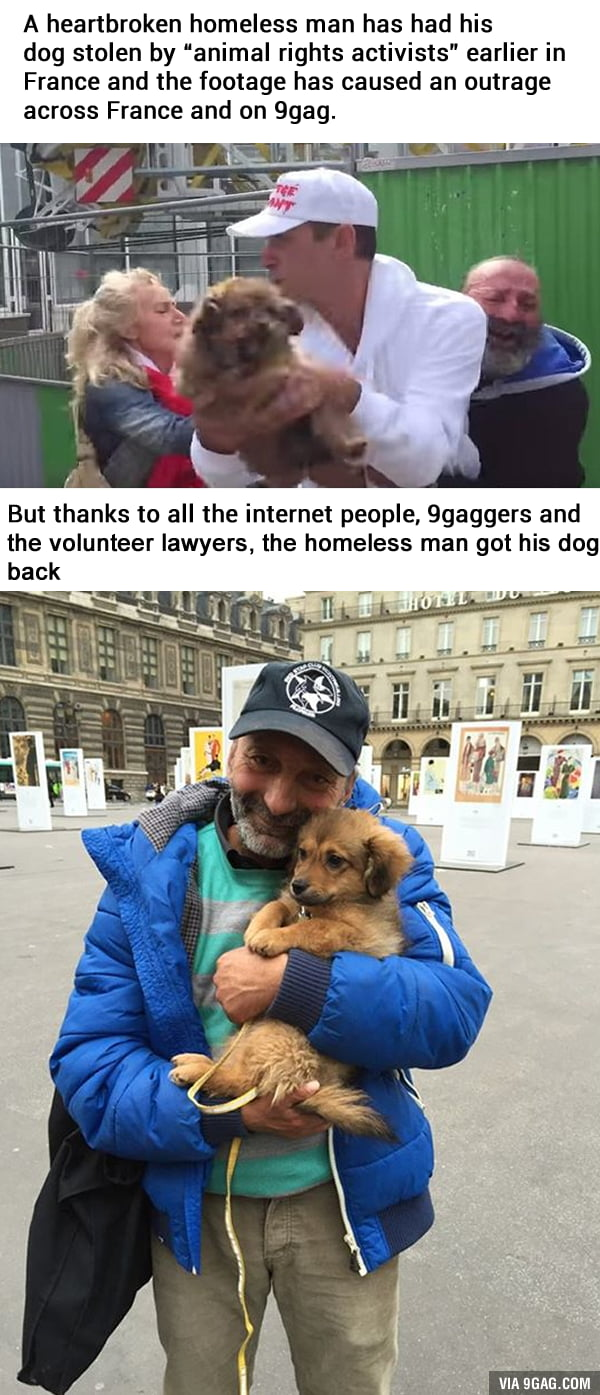 He got more than 6000€ from the internet donation.
