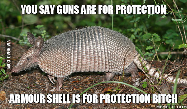 An East Texas man was wounded after he fired a gun at an armadillo in his yard and the bullet ricocheted back to hit him in his face