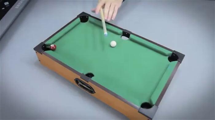 Mini pool table trick shots