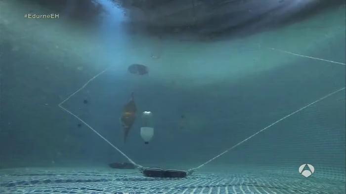 An underwater explosion