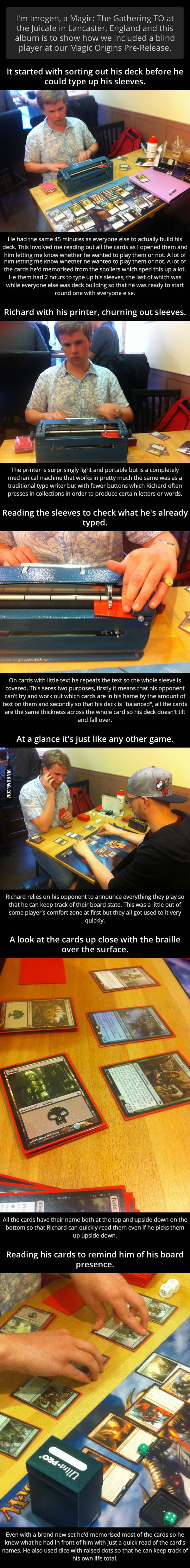 They Included A Blind Player At Their Magic Origins Pre-Releases
