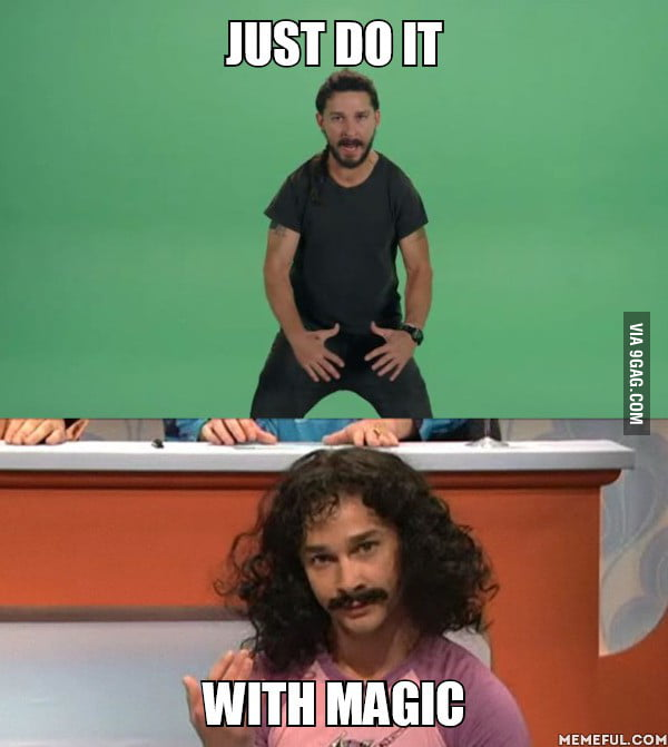 I just found out that the magic dude is actually Shia