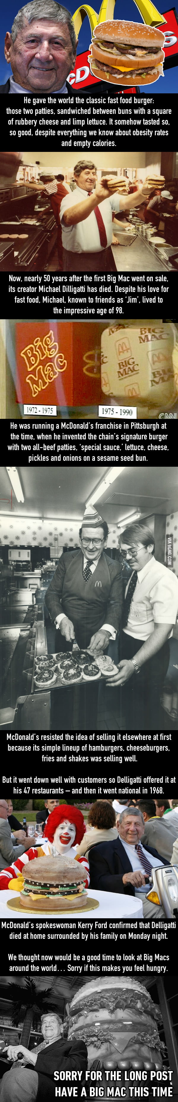 RIP Mike Dilligatti, you gave the world the Big Mac