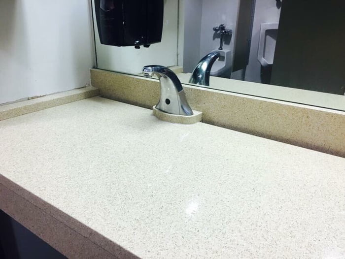 This sink has no bowl.
