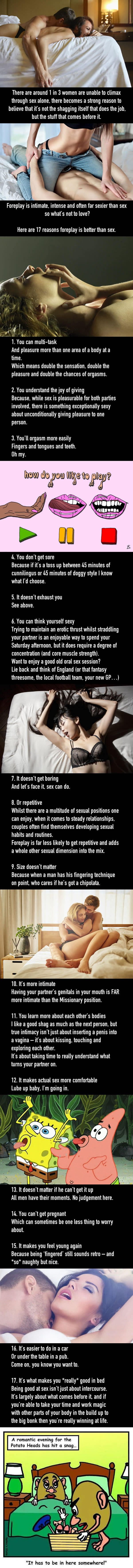 17 awesome reasons why foreplay is way better than sex