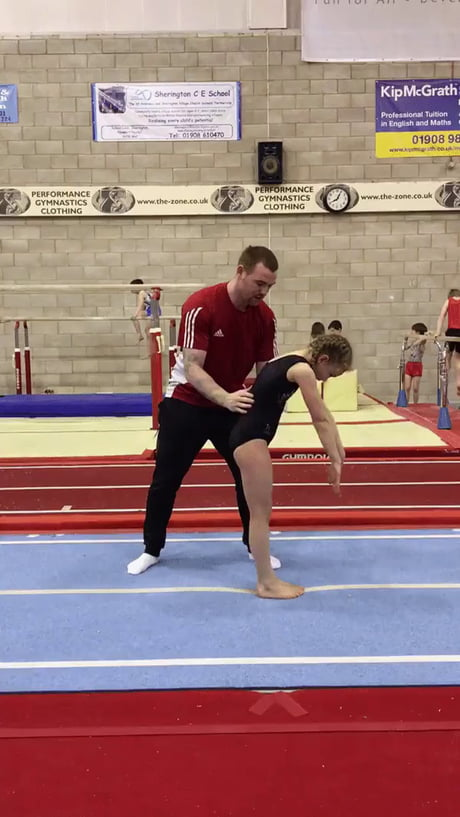 Teaching a gymnastics skill