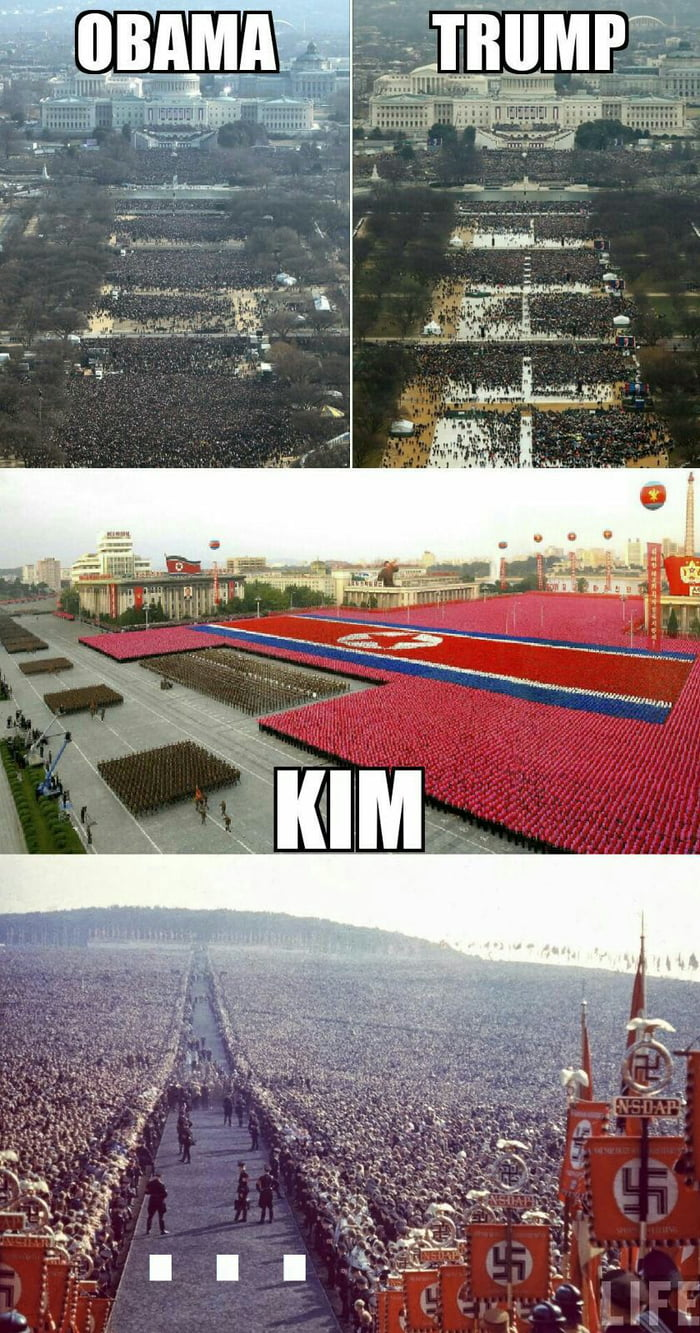 If larger crowd means better leader, obviously Hitler was the best