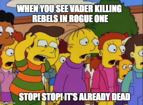 SPOILER. When you see Rogue One ending