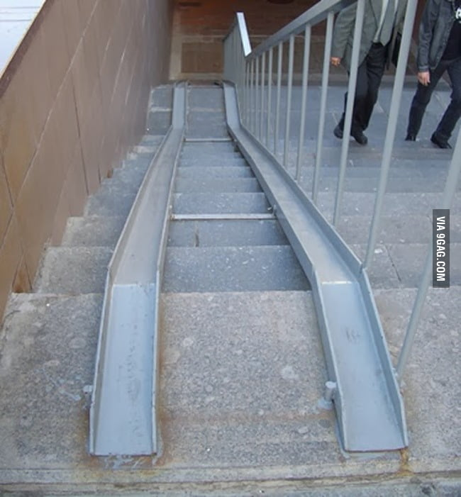 Stairs for handicapped
