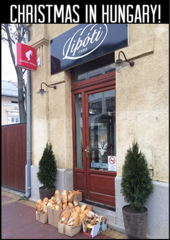 The faith in humanity! A bakery in Hungary!