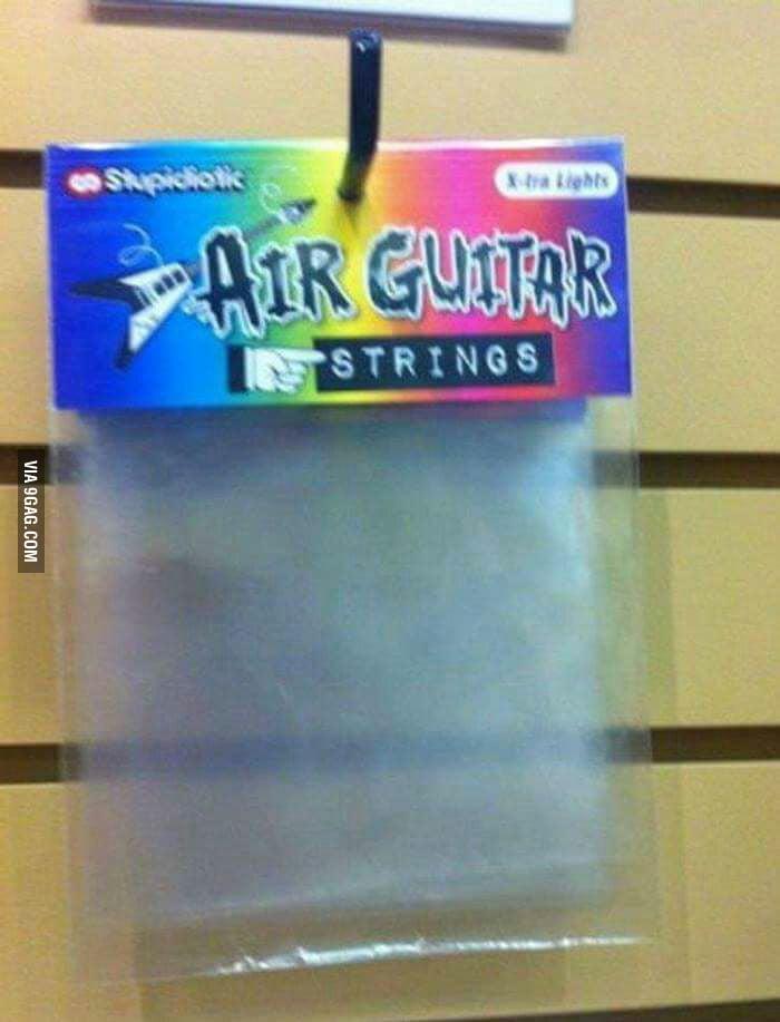 'Air guitar strings'