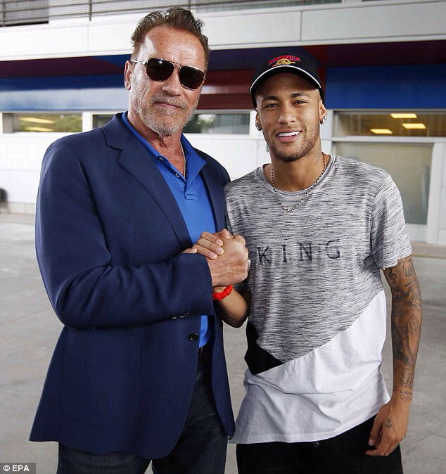 One of the best actors in the World and Arnold Schwarzenegger