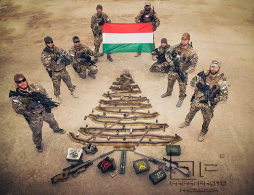 Hungarian Army Wish You Merry Christmass From The Border Of Europe. Thank you for serving and protect us.