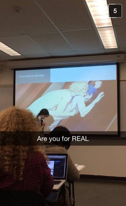 So my professor accidentally flash this on projector