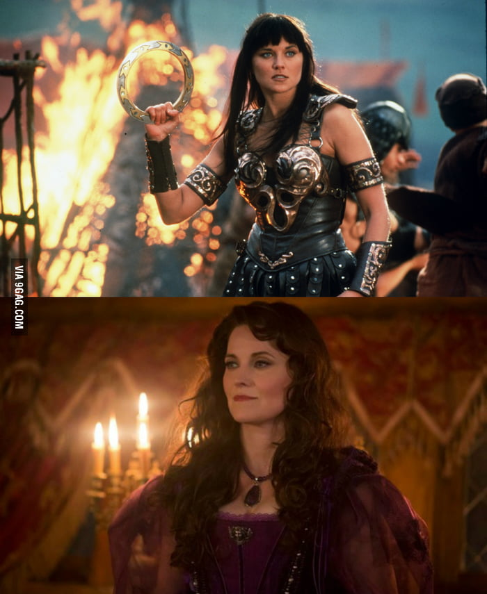 Remember Xena the warrior princess? Well, take a look at her now.