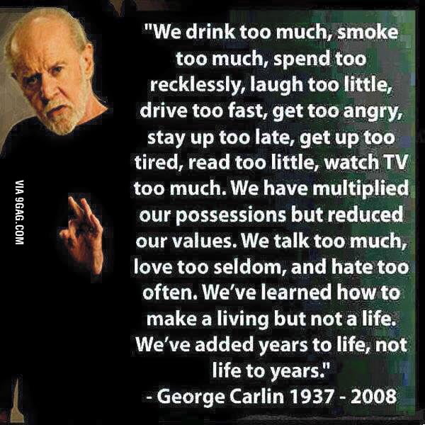 George Carlin, also one of the best comedians!